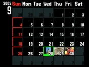 kalenderfunctie Olympus E-500