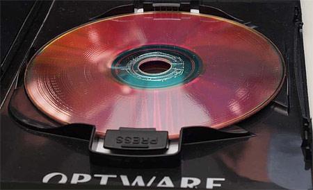 Optoware holografische HVD-schijf (prototype)