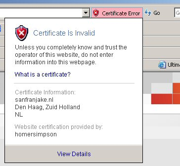 IE 7 ssl-features
