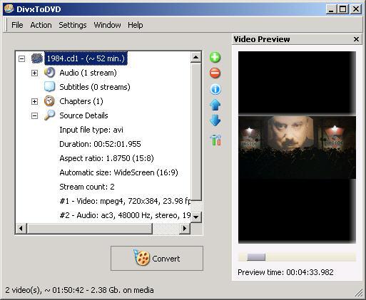 DivxToDVD 2 1.99.23 screenshot