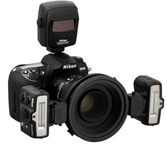 Nikon D200 met iTTL makroflitser
