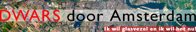 'Dwars Door Amsterdam'-glasvezelpromobanner