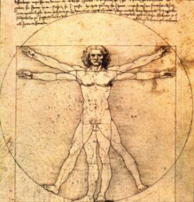 De Vitruviun Man van Leonardo da Vinci