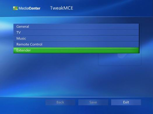 Tweak MCE PowerToy