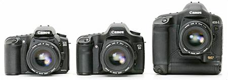 Canon 20D, 5D en 1Ds mark II