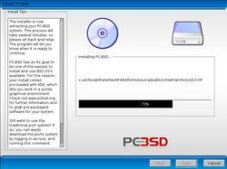 PC-BSD installing (resized)