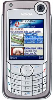 Opera Symbian S60 op een Nokia 6680