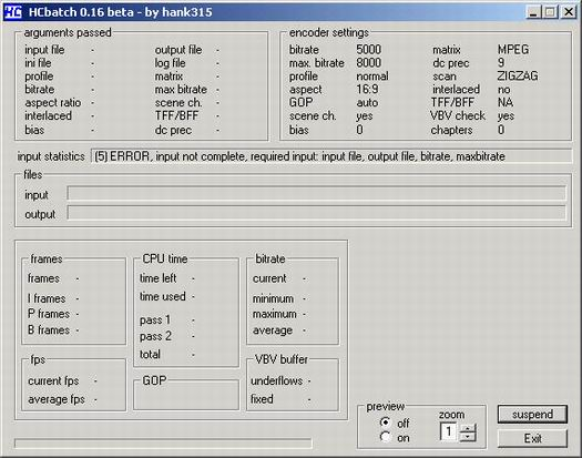 HC encoder 0.16 screenshot (resized)