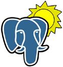 PostgreSQL-olifant met zonnetje