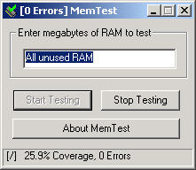 MemTest 3.3 screenshot