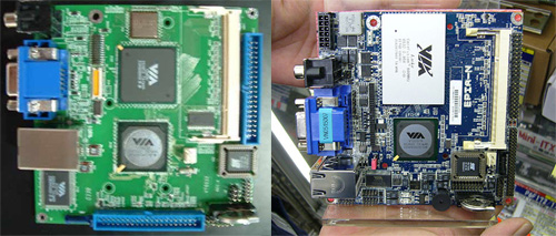 VIA Nano-ITX: prototype en retailversie