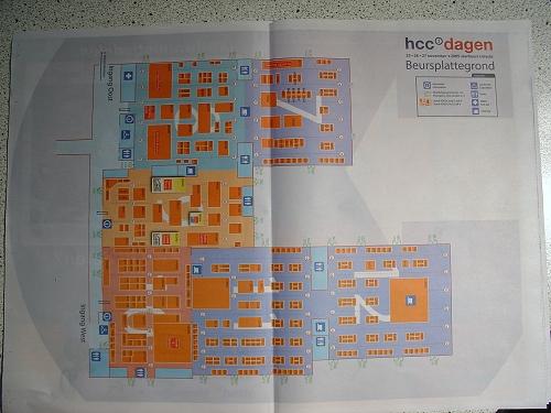 HCC Dagen 2005 - Plattegrond met stands (klein)
