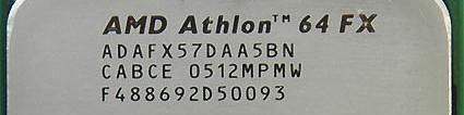 AMD FX-57 (uitsnede)