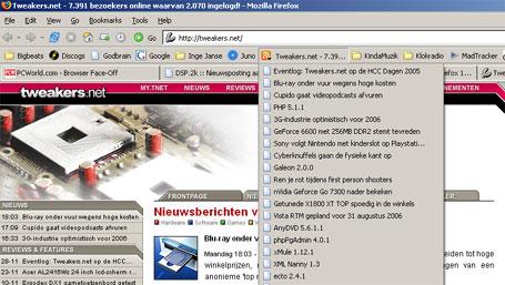 Firefox 1.5 RC3 RSS-reader
