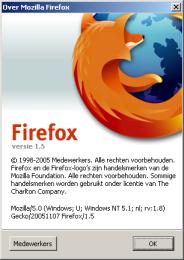 Firefox 1.5 About-scherm