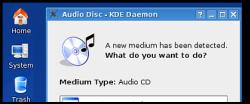 KDE 3.5 - Device popup (klein)
