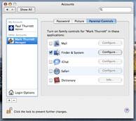 Vista versus OS X: parental controls OS X