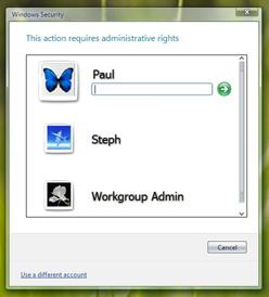 Vista versus OS X: password voor applicatie