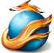 Creatieve versie Firefox-logo