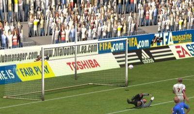Reclameborden in het spel FIFA 2005