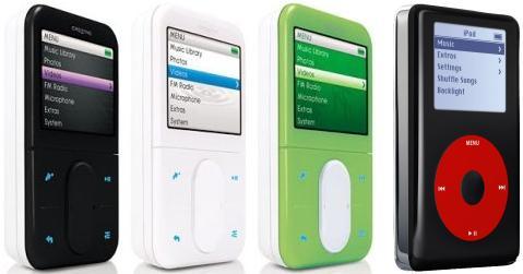 Creative Zen Vision met iPod