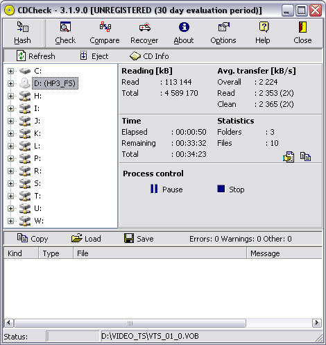 CDCheck 3.1.9.0 screenshot