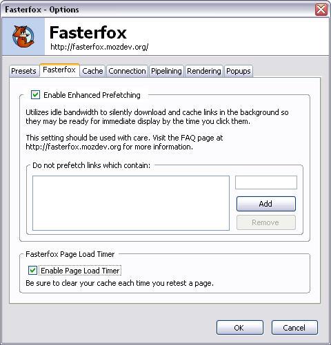 Fasterfox 1.0.0 screenshot