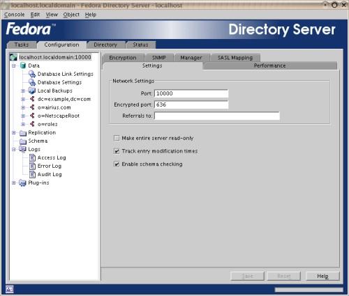 Fedora Directory Server - Console