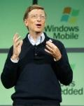 Bill Gates tijdens een presentatie van Windows Mobile