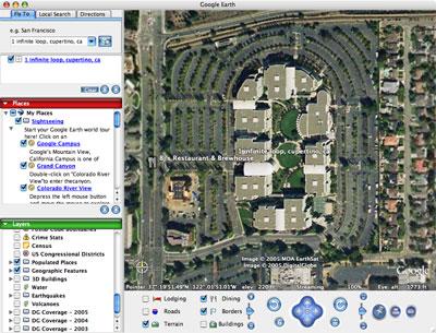 Google Earth voor Mac OS X