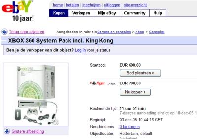 Ebay veilt Xbox 360