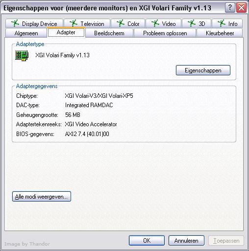 XGI Volari V3 Reactor 1.13 WHQL
