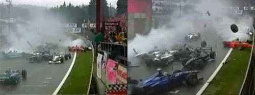Formule 1: crash op Spa Francorchamps, 1998
