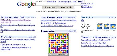 Google Persoonlijke Homepage