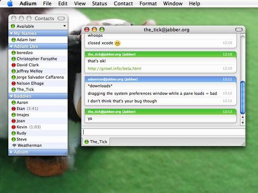 Adium X screenshot (resized)