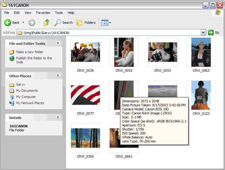 Microsoft RAW Image Thumbnailer and Viewer