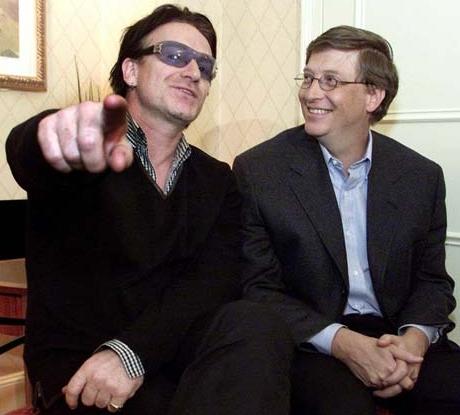 Bono en Bill Gates