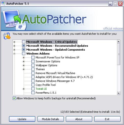 AutoPatcher XP December 2005
