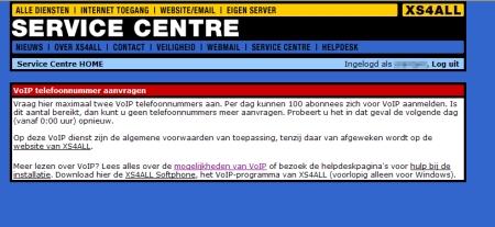 Xs4all biedt VoIP aan