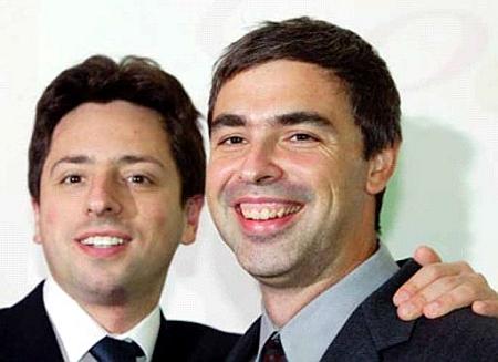 Sergey Brin en Larry Page