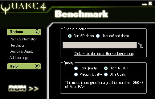 HardwareOC Quake 4 Benchmark