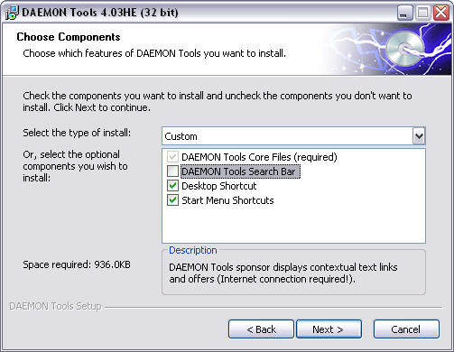 Daemon Tools 4.03 screenshot