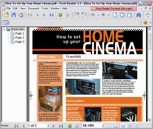 Foxit Reader 1.3 screenshot (resized)