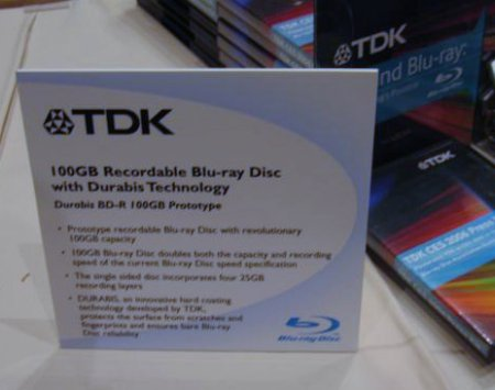 TDK 100GB Blu-ray prototype