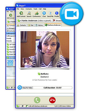 Skype for Windows versiue 2.0 met video