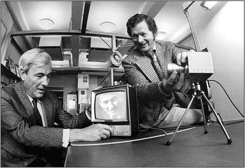 Dr. Willard Boyle en dr. George Smith, ontdekkers van het CCD