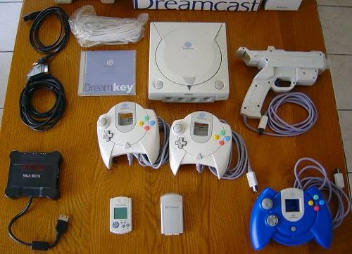 Sega Dreamcast met randapparatuur