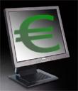 Flatpanel met Euro-teken
