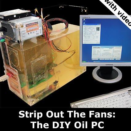Oliegekoelde computer