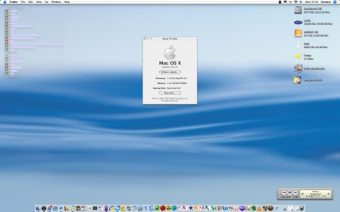 Apple Mac OS X 10.4.4 - desktop van Canaria (klein)